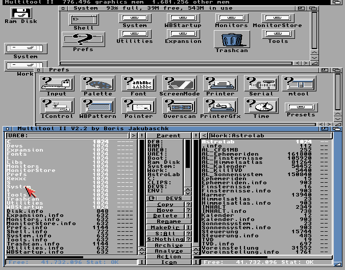 Kickstart on the Amiga 1000 (1985).